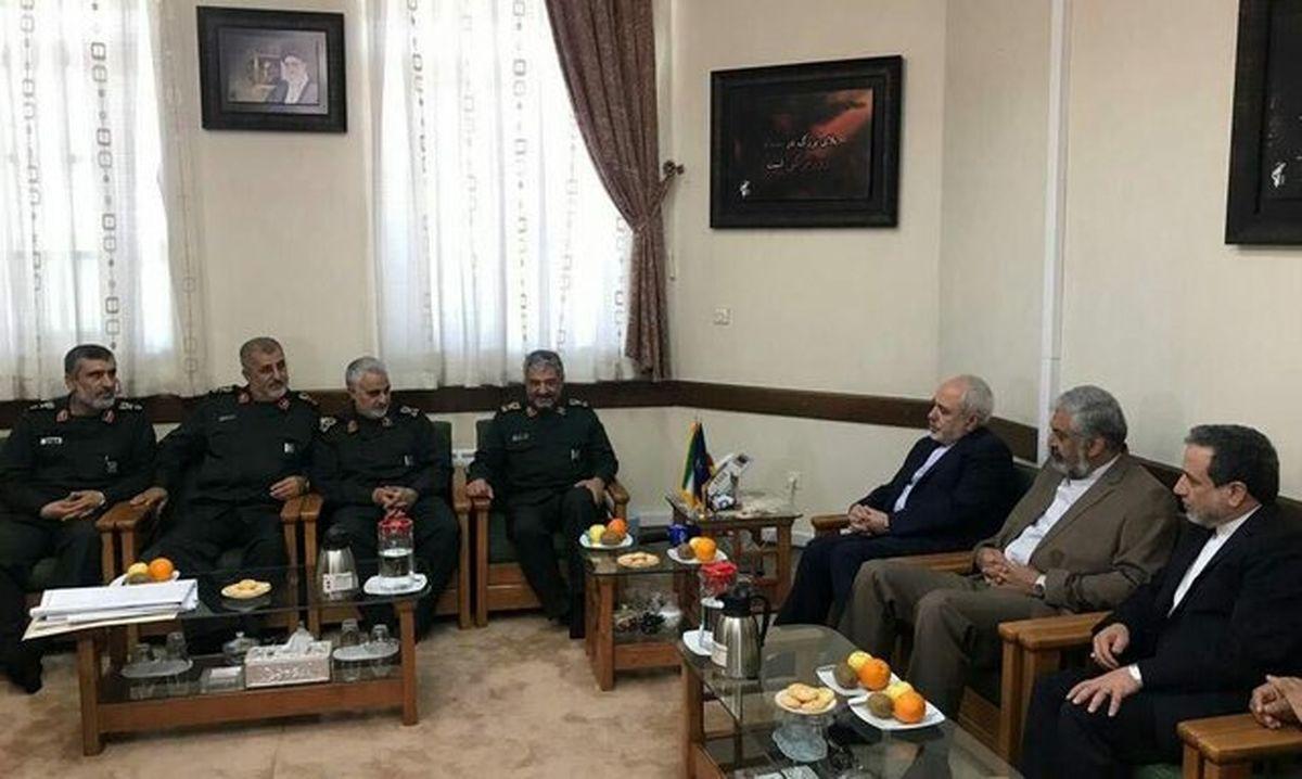 ظریف: دیدار با این سرداران عالی رتبه سپاه افتخارآمیز بود