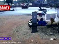 تصادف خودرویی با یک موتور سیکلت در هند +فیلم