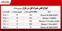 قیمت موبایل اپل در بازار  +جدول