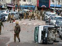 حمله انتحاری به اتوبوس نیروهای پلیس در هند +تصاویر