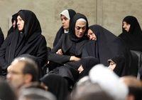 شهربانو منصوریان و مادرش درمراسم دیدار با رهبری +عکس