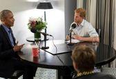 مصاحبه رادیویی شاهزاده انگلیسی با اوباما +تصاویر
