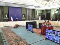 ماسک زدن روحانی در جلسه ستاد مقابله با کرونا +عکس