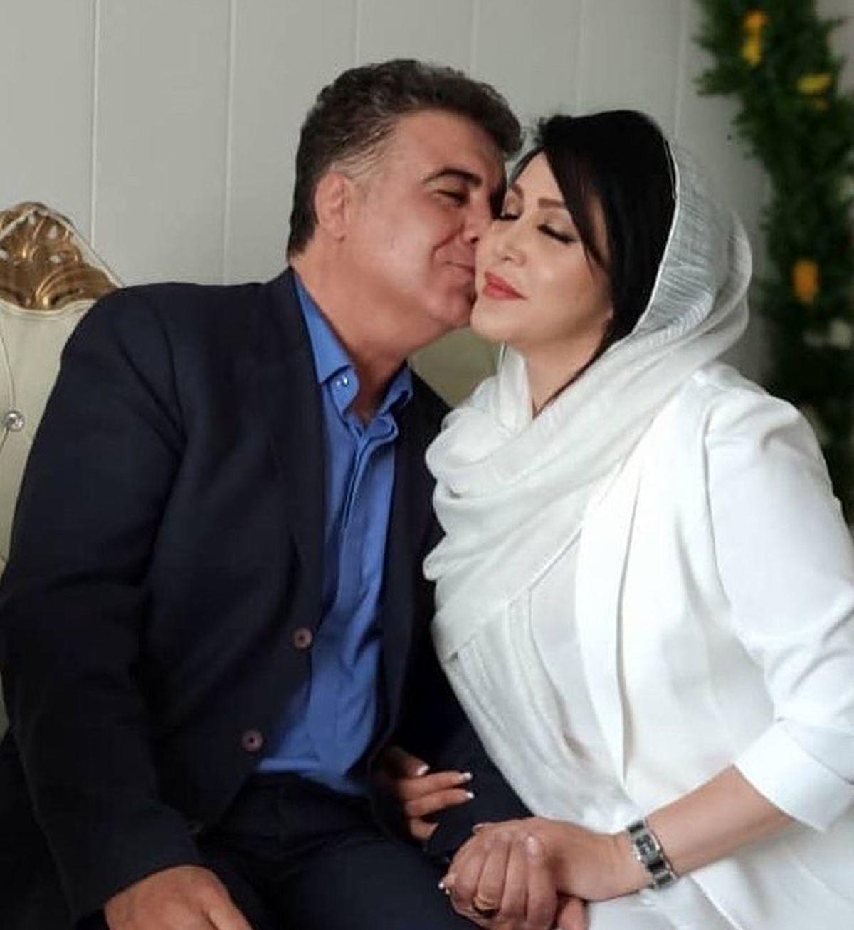 سلفی حسن شکوهی با همسر جدیدش + عکس