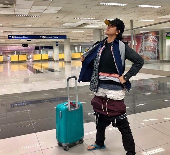 مسافر تمام لباسهایش را پوشید تا پول اضافه بار ندهد +عکس