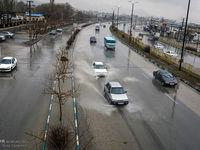 بارش برف و باران درمحورهای چهار استان
