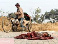زن و مرد کارگر در دهلی نو +عکس
