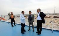 عباس آخوندی روی عرشه کشتی کروز +تصاویر