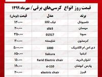 کرسی برقی در آستانه فصل سرما چند؟ +جدول