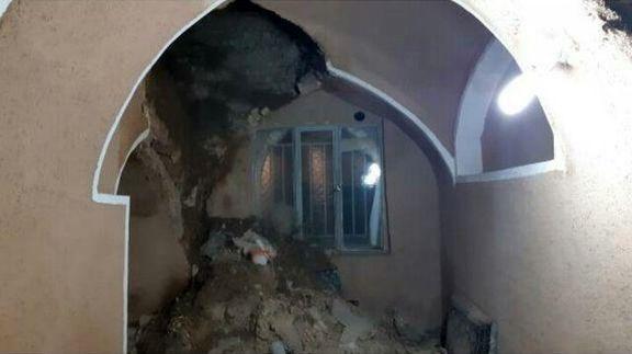 تخریب یک مسجد تاریخی در البرز +عکس