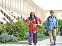 توریست خارجی در خیابانهای تهران