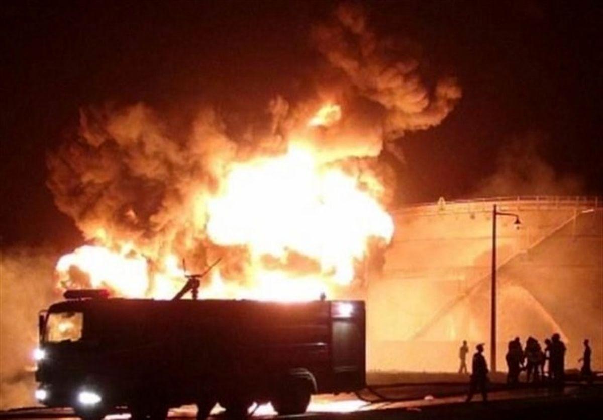 الحوثی: آتشسوزی پالایشگاه عدن کار متجاوزان است