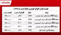 قیمت خودرو ساینا در تهران +جدول
