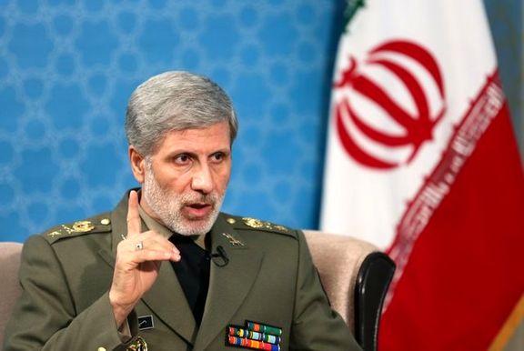 واکنش وزیر دفاع به ادعای ترامپ درباره پهپاد ایرانی