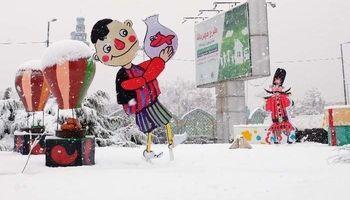 برف نوروزی در اراک +تصاویر