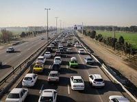 آزاد راه قم-تهران ترافیک نیمهسنگین و روان دارد