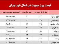سوییت در شمال شهر تهران چند؟ +جدول
