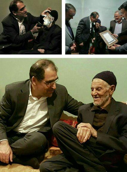 وزیر بهداشت با پدر سردار سلیمانی دیدار کرد