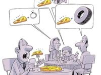 اینم پیتزا با روکش طلا! (کاریکاتور)