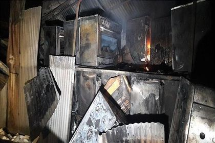 آتشسوزی وسیع در انبار کارخانه سینجرگاز +عکس