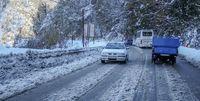 وضعیت وخیم جادههای برفی منتهی به رشت +فیلم