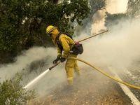 وقوع آتش سوزی در کالیفرنیا +تصاویر