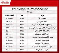 قیمت محصولات سایپا در تهران +جدول