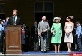 نخستین حضور شاهزاده مگان و هری پس از ازدواج +فیلم