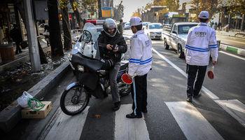 حمله موتورسوار متخلف به مامور پلیس