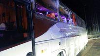 مجروحشدن ۱۷ نفر بر اثر واژگونی اتوبوس +تصویر