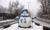بارش شدید برف در همدان +تصاویر