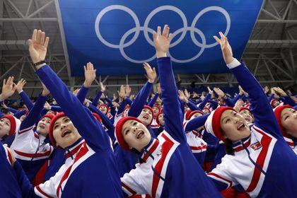 دختران تشویق کننده کره شمالی در المپیک زمستانی +تصاویر
