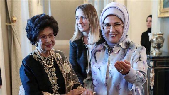 دیدار امینه اردوغان با همسر نخستوزیر مالزی در آنکارا