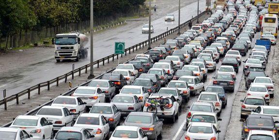 ترافیک فوق سنگین در محور هراز