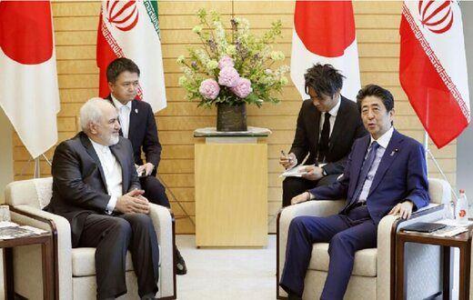 ظریف با نخستوزیر ژاپن دیدار کرد