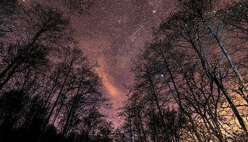 تصویری بینظیر از  آسمان زیبا در شب
