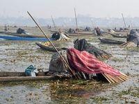 روش عجیب ماهیگیری در هند +عکس