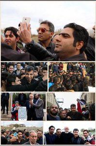 سلفیهای بیموقع در مراسم خاکسپاری پورحیدری +عکس