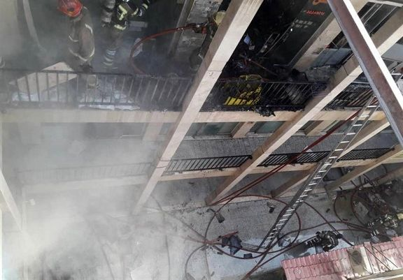 آتشسوزی در بازار تهران
