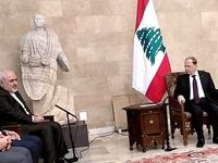 دیدار ظریف با رییسجمهور لبنان