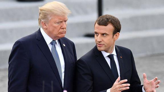 ترامپ: فرانسه نماینده ما برای دعوت ایران به مذاکره نیست