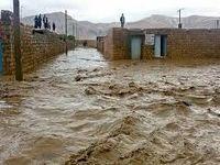 مسدود شدن راه 7روستای خراسان شمالی بر اثر سیل