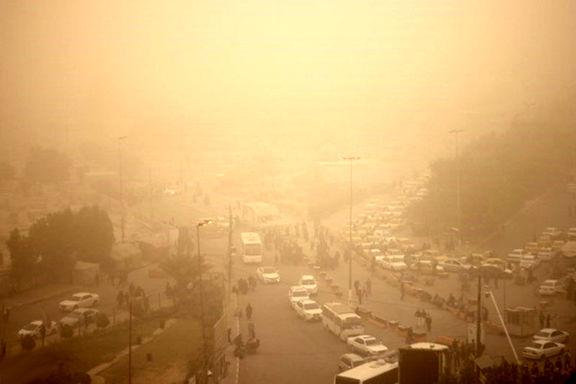 غلظت ذرات غبار در هوای زابل به 7 برابر حد مجاز رسید