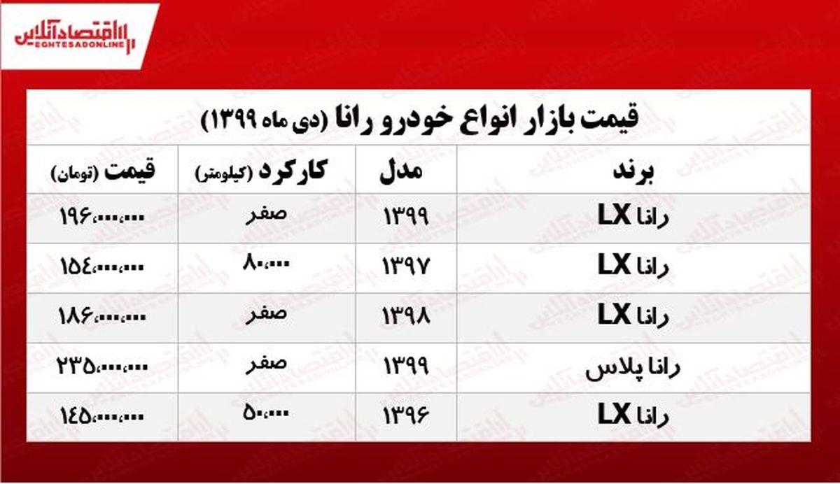 رانا LX چند؟ +جدول