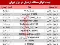مظنه انواع پرفروشترین تردمیل در بازار تهران؟ +جدول