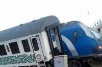 برخورد قطار فدک با ترن رجاء+ عکس