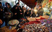 حراج کرونا در بازار شب عید