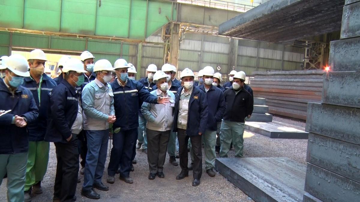 بومی سازی تختال ۳۰۰میلیمتر در فولاد مبارکه