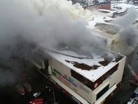 مرگ دهها کودک در آتشسوزی مرکز خرید در سیبری +تصاویر