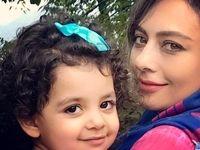 عکسی از یکتا ناصر به همراه دخترش